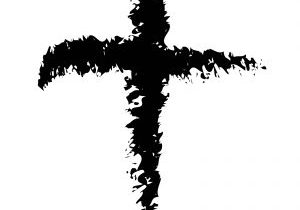 cross made with ash